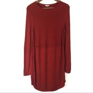 J Jill Sz Sm Dress Red Wool Viscose Blend